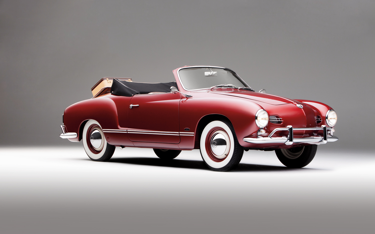 Beautiful 1958 Volkswagen Karmann Ghia Front Right Side View